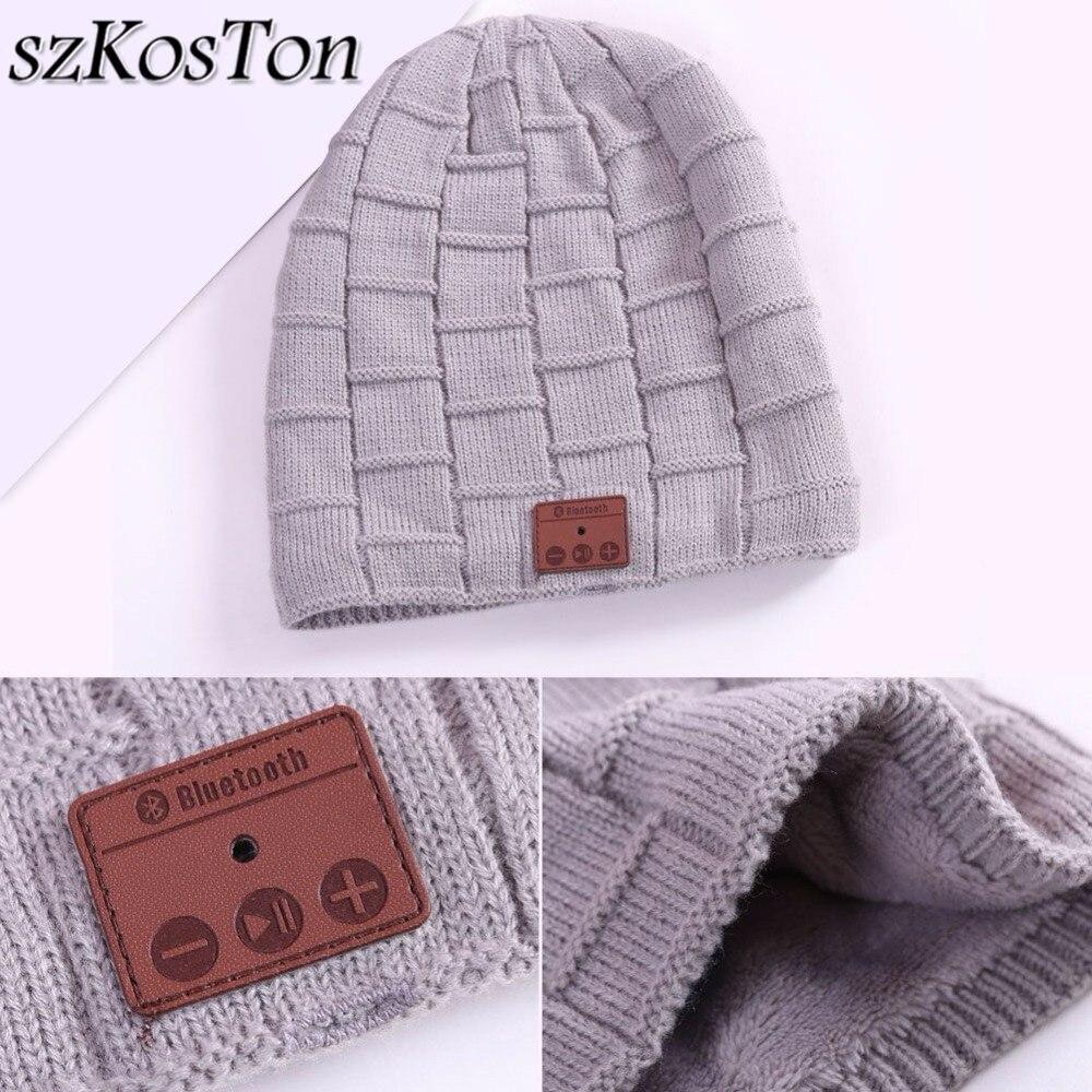 1b9e730dd94 V3.0+EDR Bluetooth Wireless Music Hat Knitted Plus Velvet Winter Outdoor  Warm Bluetooth