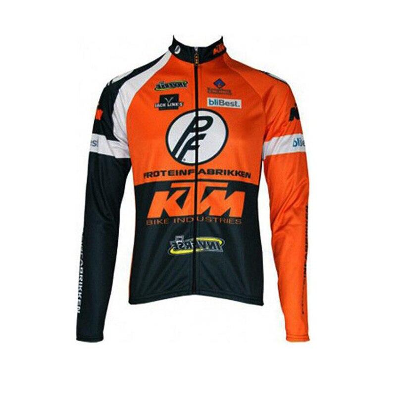 Цена за KTM Мужчины Велоспорт Джерси Pro Team 2016 С Длинным Рукавом Велосипед Рубашка Велосипедов Clothing Носить Дышащий открытый Спортивной Одежды Одежда A0702