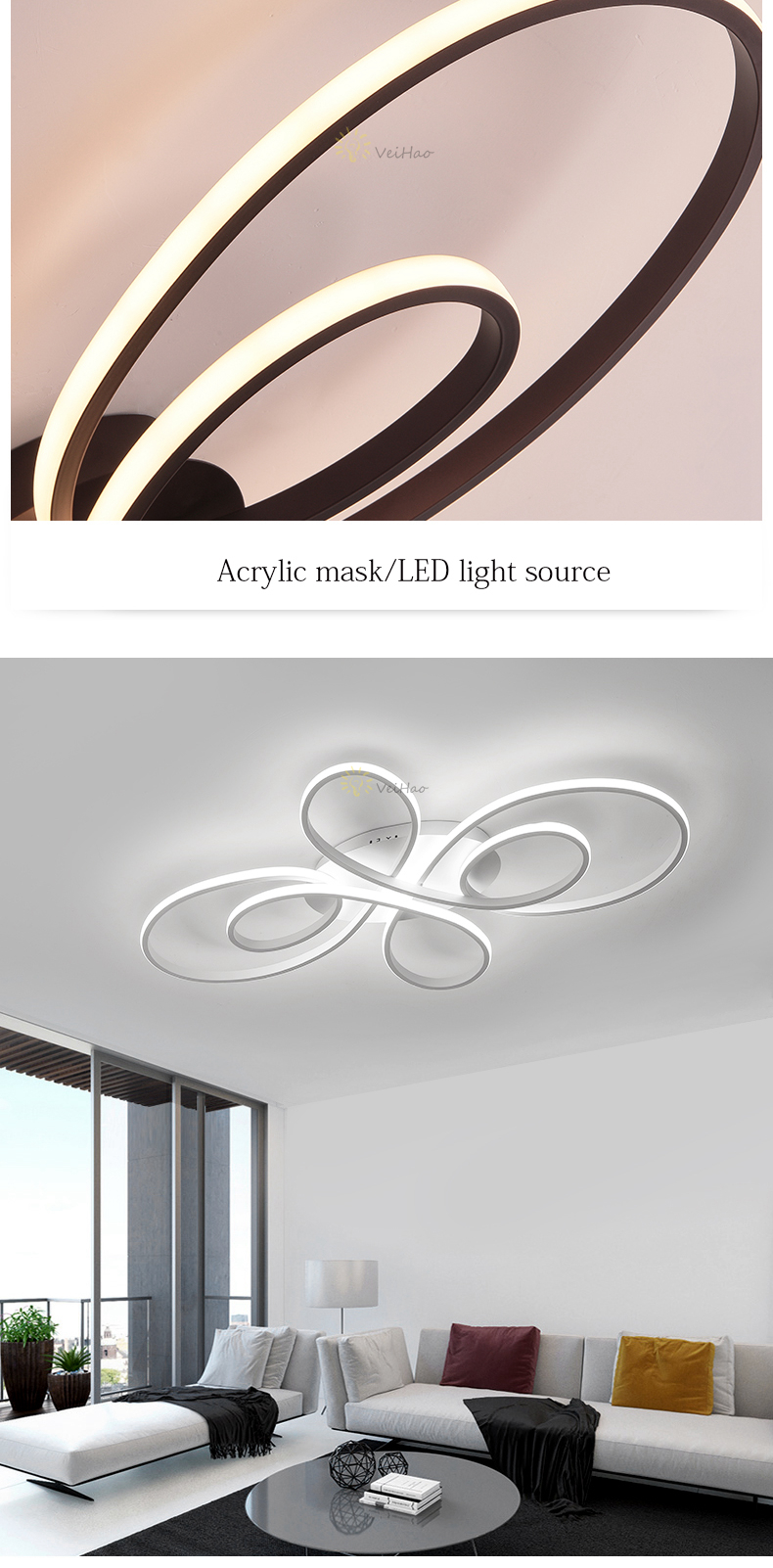 HTB1Amppa8Cw3KVjSZFuq6AAOpXaO Modern LED ceiling Lights dimmable living room dining room bedroom study balcony aluminum body home decoration ceiling lamp