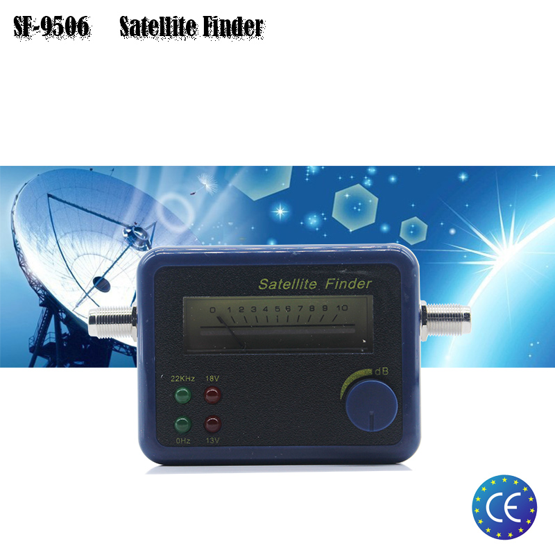 SF-9506 Hd Digital Finder Satelit Untuk Reciever TV Satelit Sokongan DVBS / DVBS2 Satellite Finder Satellite Meter