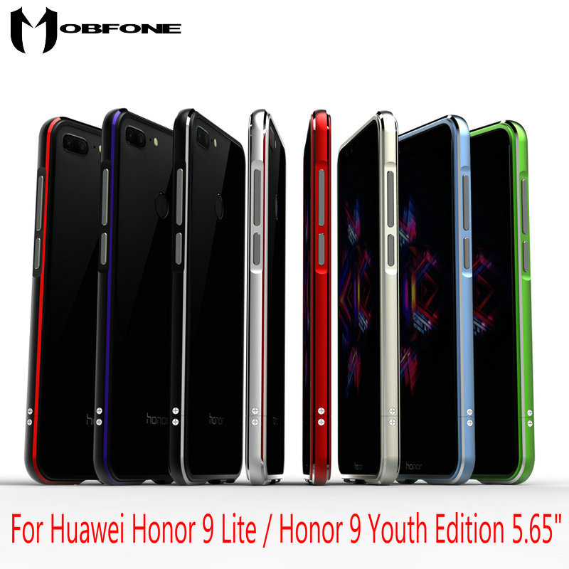 High Quality Ultra Thin Slim Aluminum Metal Bumper Frame Case For Huawei Honor 9 Lite/Honor 9 Youth Edition 5.65 + Strap BK1