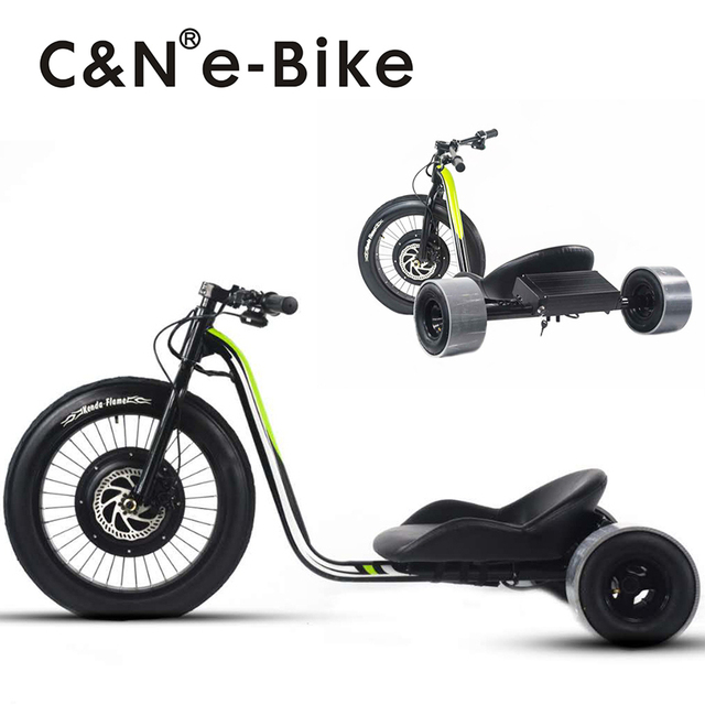 2017 Newest Design 48v 1500W Fat Tire Drift Trike Electric Triker ...