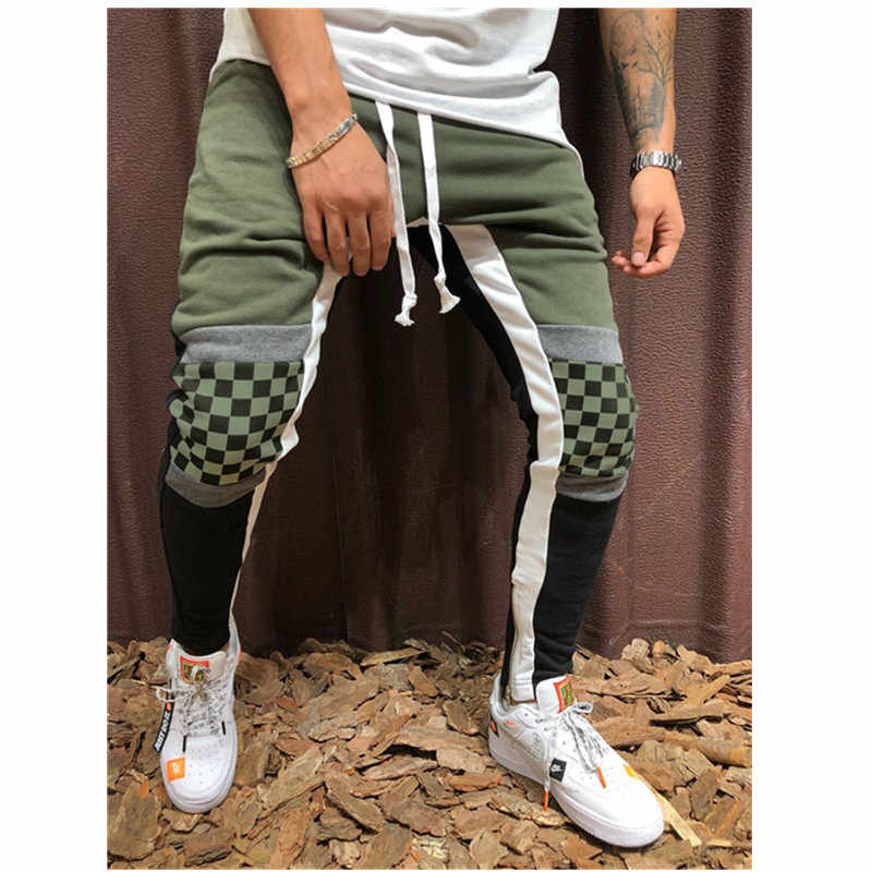 Street Men's Casual Sweatpants Black and White fashion hip-hop Sweatpants jogging collage men's pants 2019