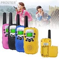 מכשיר הקשר Porster שחור / כחול / ורוד / 2pcs צהוב מיני מכשיר הקשר Kids רדיו תחנת RT388 0.5W PMR PMR446 FRS UHF רדיו נייד חדש (1)
