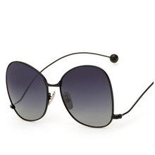 Moda de Gran Tamaño gafas de Sol Polarizadas Las Mujeres Chica Gafas de Sol UV400 Gafas De Sol Mujer Damas Zonnebril, gafas y Accesorios