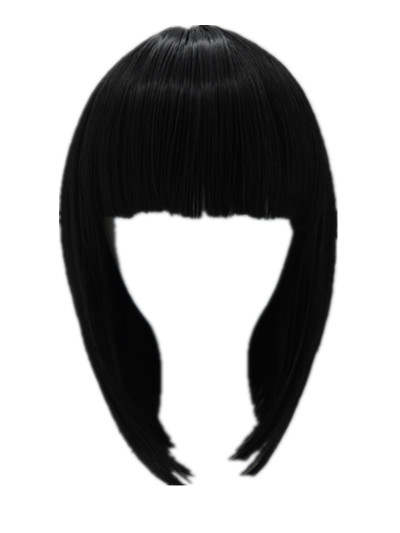 US $6.2 31% OFF|Black Bob Wig Fei Show Synthetic