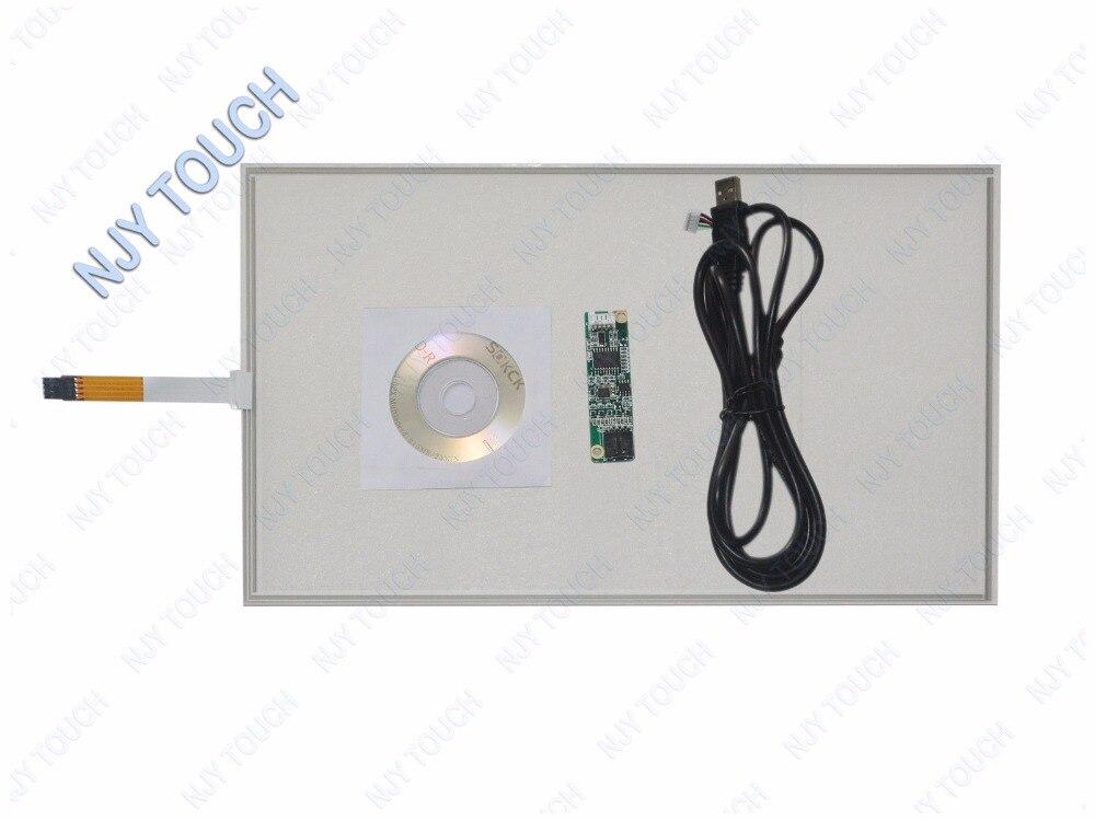 15 pouces 4 fils résistif écran tactile panneau 346X217mm plus USB pilote Kit bricolage LCD moniteur