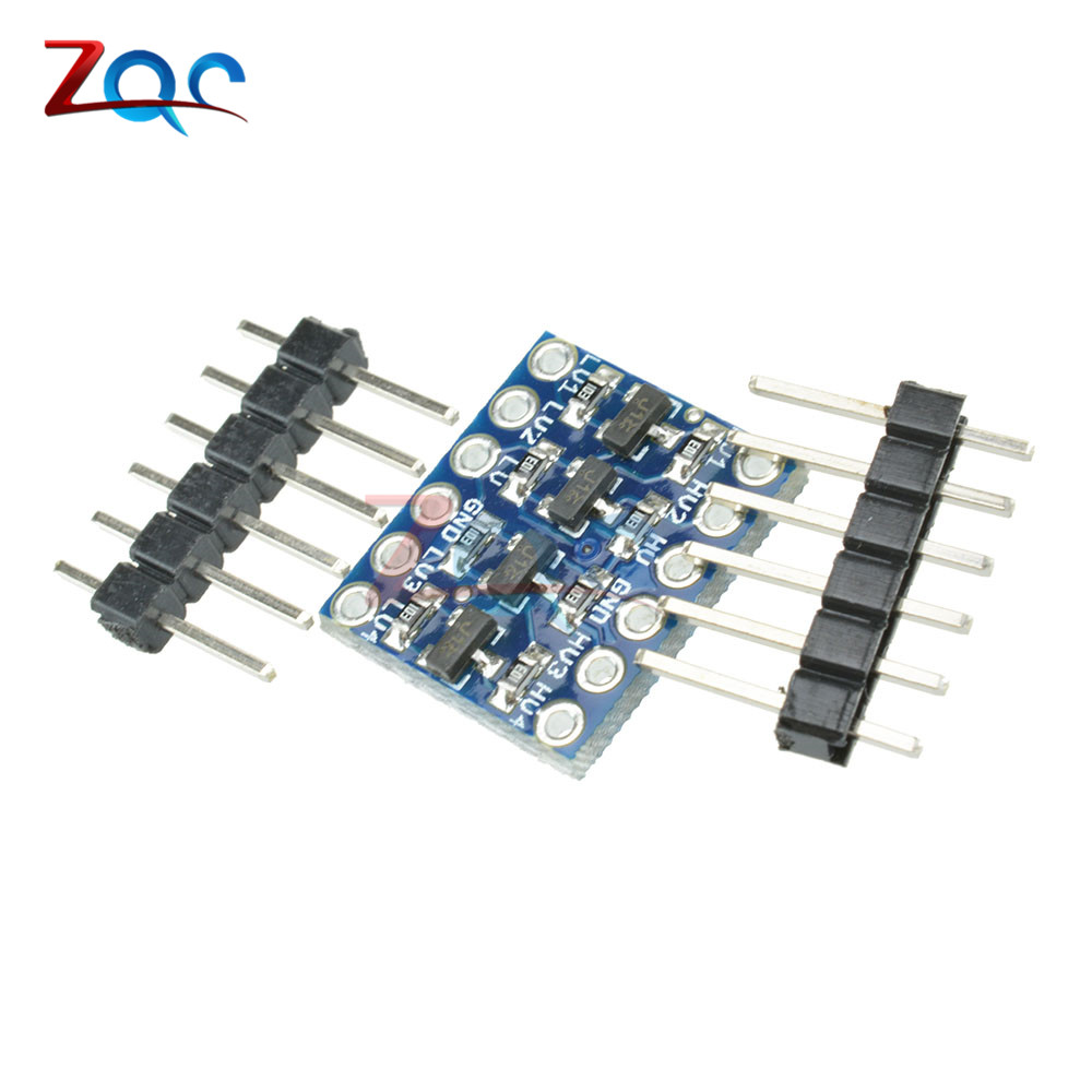 5PCS IIC I2C Logic Level Converter Bi-Directional Board Module 5V/3.3V DC For Arduino With Pins