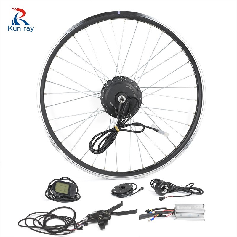 Bike Conversion Kit G104F 36V 350W Electric bicycle Hub Motor 16-28 bycicle front wheel motor with LCD5 BLDC motor bike kits wholetide 10 marriage gauze bag bag joker bag silver rose