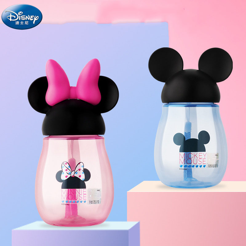 Disney  Mickey Mouse  Cartoon  Cups  Kids Gift Portable Creative Commons Drink Straight Sport Bottles Princess  Feeding  Cups