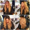 Peruvian Virgin Hair Full Lace Human Hair Wigs T1b/27 Two Tone Ombre Dark Roots Honey Blonde Lace Front Wigs Straight Wigs