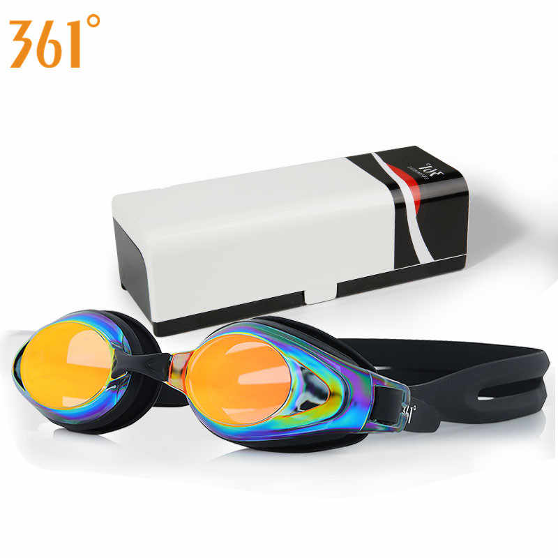 361 Swim Goggles Adult Pool Anti Fog Prescription Swimming Glasses Myopia Swimming Goggles Mirrored Professional Swim Glasses