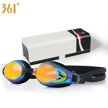 361 Swim Goggles Adult Pool Anti Fog Prescription Swimming Glasses Myopia Mirrored Professional