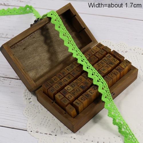 Zakka Стиль хлопковая кружевная лента швейная лента, бежевая Кружевная Сетка, крутая кружевная тесьма(17 мм x 50 ярдов - Цвет: Light Green