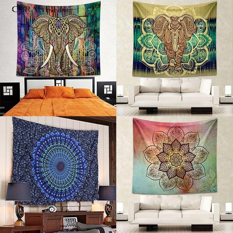 Muebles para el hogar Mandala Bohemia tapiz colgante de pared de la playa de arena de Picnic alfombra manta de la tienda de Camping viajes almohadilla para dormir