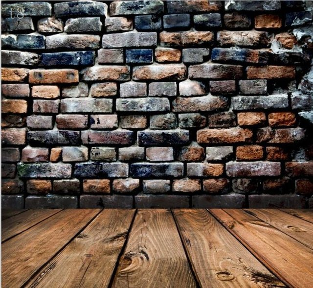 5x7ft new arrival vinyl photography backdrop vintage brick wall wood