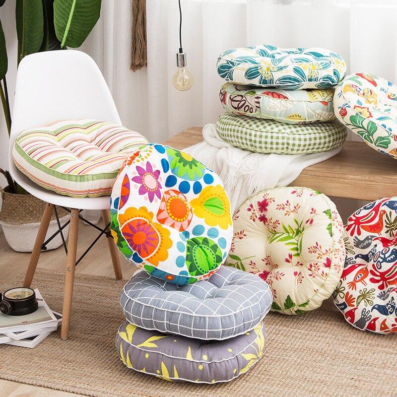 Round Pouf Tatami Cushion Pillow Floor Cushions Linen Cotton Seat Pillow Pad Throw Pillow Cushion Japanese Tatami Cushion Square