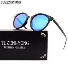 TUZENGYONG Ronda gafas de Sol de Las Mujeres Diseñador de la Marca Retro Hombres Gafas de Sol de Moda UV400 Gafas Feminino gafas de sol con caja T1610