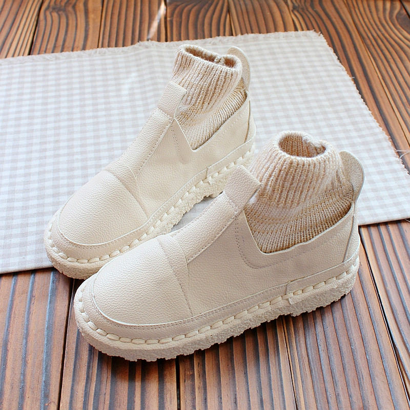 Planos Botines 2 A Cosido Otoño Arranque 3 1 Mano Mujeres De Corto Las E Invierno Martin Boca Zapatos Lana Mouton HSHxvzn