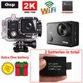 Frete Grátis! Gitup Git2 Novatek 96660 1080 P Wi-fi 2 K Câmera de Ação de Esportes Ao Ar Livre + Extra 1 pcs 950 mAh Da Bateria
