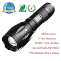 XM-L T6 LED Torch CREE LED Flashlight E17 3800 Lumens Waterproof Lighting 18650 Powerful Flashlight L2 with 5 Modes