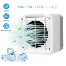 HIPERDEAL Aromatherapy Humidifying Air Cooler Mini Air Conditioner Device Cool Soothing Wind Cooler Fan Air Personal USB 19Jun27(China)