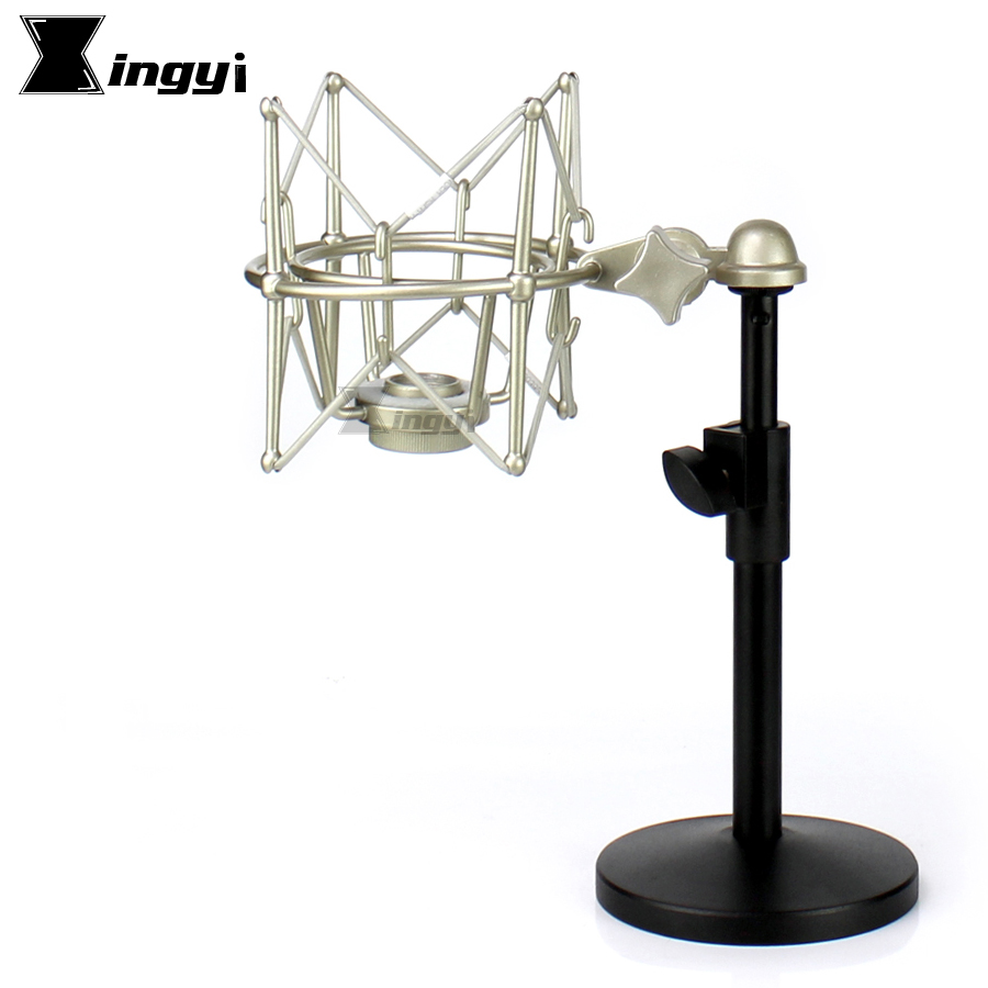 Metal Desktop Stand Microphone Spider Shock Mount Mic Holder Shockmount For Neumann Recording Studio BM800 BM700 BM 700 800 900 image