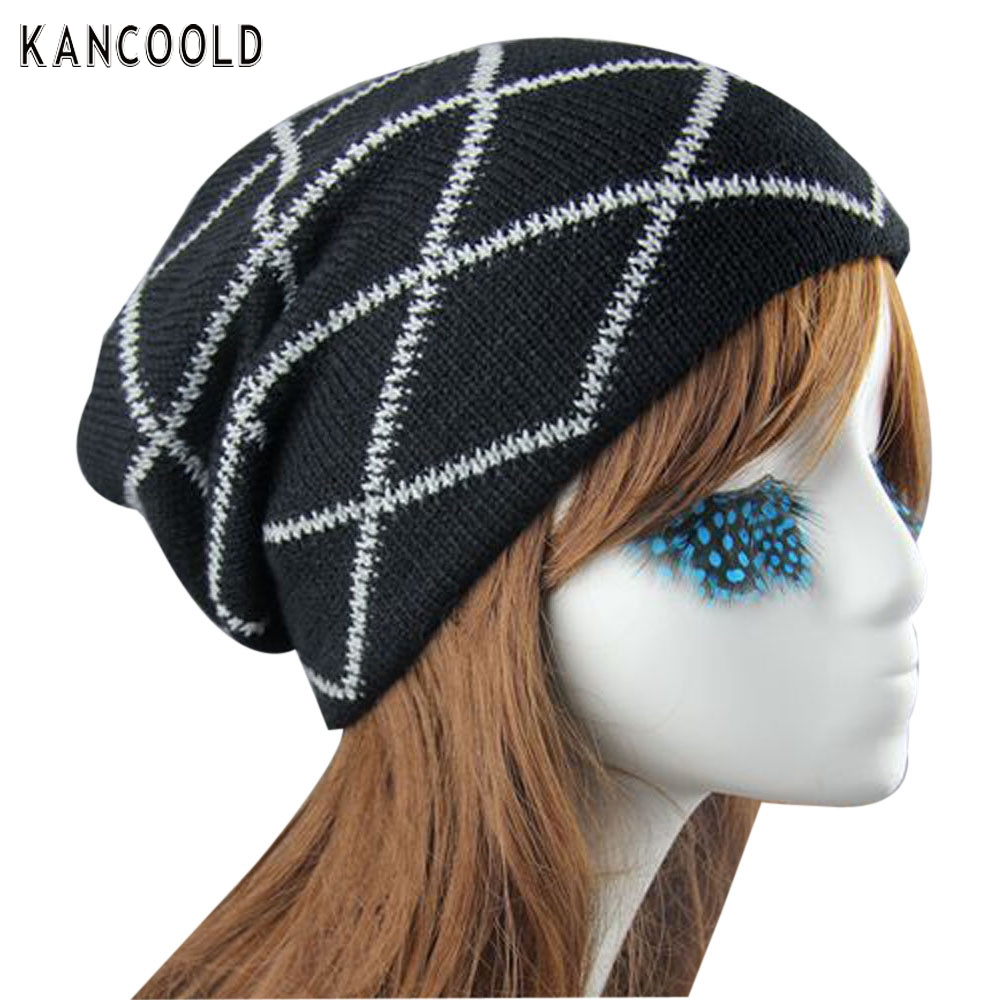 Knit Winter Warm Women Men Hip-Hop Beanie Hat Baggy Unisex Cap Skull  beanies 2017 SEP30 send in 2 days new makeup brushes professional foundation brush 10pc powder brushes eyeshadow concealer applicators make up tools beauty 2017