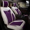 Tampas de assento do carro do inverno da menina roxo de pelúcia material de frente e banco traseiro do carro-styling acessórios do carro
