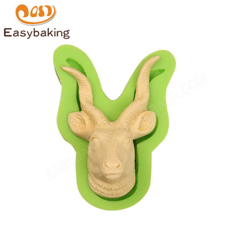US $8 05 38% OFF 3D Goat Head Shape Silicone Soap Mold Chocolate Pastry  Tool Fondant Cake Decorating Arts and Crafts Moulds-in Cake Molds from Home  &
