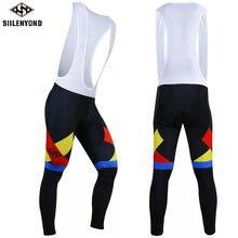 Siilenyond, велосипедный длинный комбинезон, мужские теплые штаны, зима, термальный флис, 3D гелевая подкладка, велосипедный нагрудник, трико, Mtb, мужские, Ropa Ciclismo