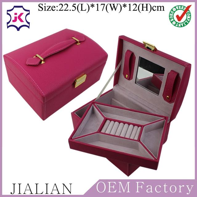 Artificial Leather Cardboard Jewelry Box Organizer Case Jewelry