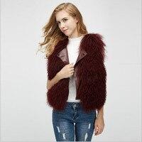 maomaokong 2018 new Mongolia Sheep Fur Beach Wool Vest short Leather Sheep Curl One Women Winter Plush Coat