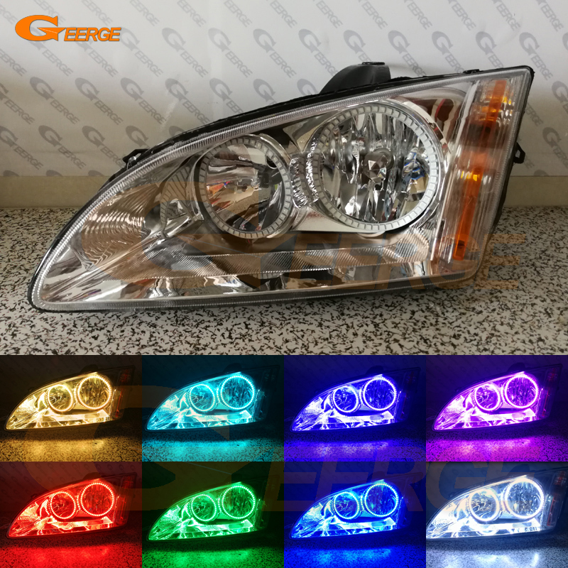 For Ford Focus II Mk2 2004 2005 2006 2007 2008 Europe Excellent Multi-Color Ultra bright RGB LED Angel Eyes kit Halo Rings for lexus lx470 2003 2004 2005 2006 2007 excellent multi color ultra bright rgb led angel eyes kit halo rings