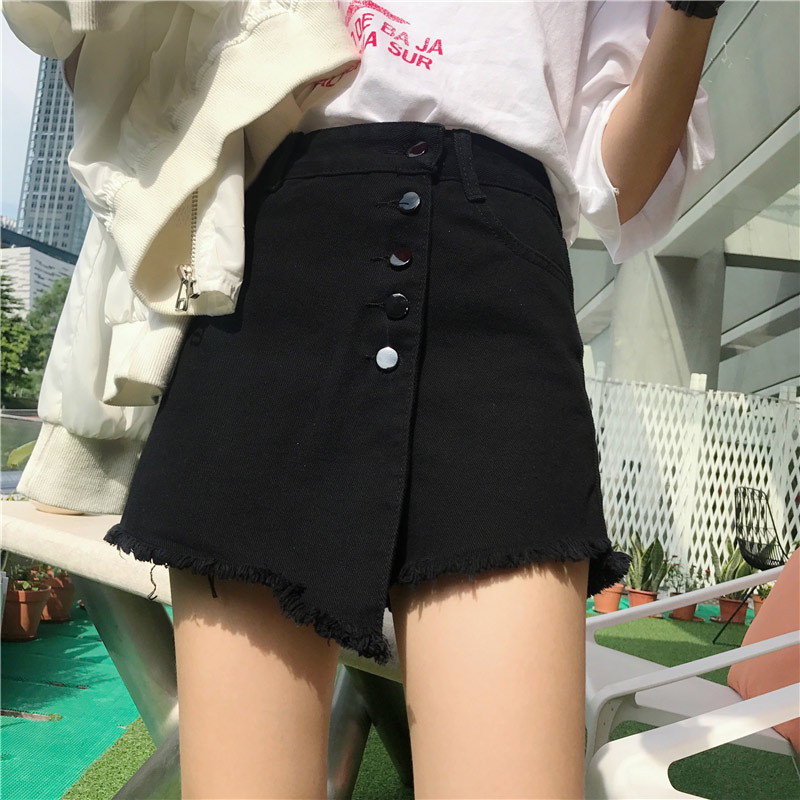 80S 90S Plus Size 4XL 5XL Denim Women Jeans Short Skirts 2019 Summer Pockets Buttons High Waist Lady Classic Female Streetwear