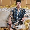2016 invierno caliente sexy mens túnicas kimono albornoz ropa de noche masculina de seda