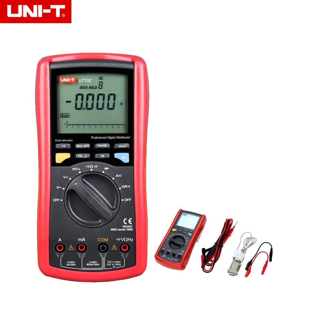UNI-T UT70C True RMS 7999 3 7/8 Counts Intelligent LCD Digital Multimeters & RS232C Interface Cable Backlight чехол для для мобильных телефонов zero sony xperia z3 d6603 d6653 slim xperia z3 d6643 d6616 for sony xperia z3