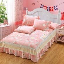Ткань шнурка хлопка африканская Роскошный Розовый Белый цветок Край Свадебные украшения кровать юбка наволочка король queen Размер постельного белья