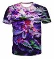 Nuevo Estilo de Moda de Verano WEED 3D Print Mujeres de la Camiseta de La Calle Hip Hop Top Verde Camiseta de Los Hombres Casual Camisetas Tallas M-XXL