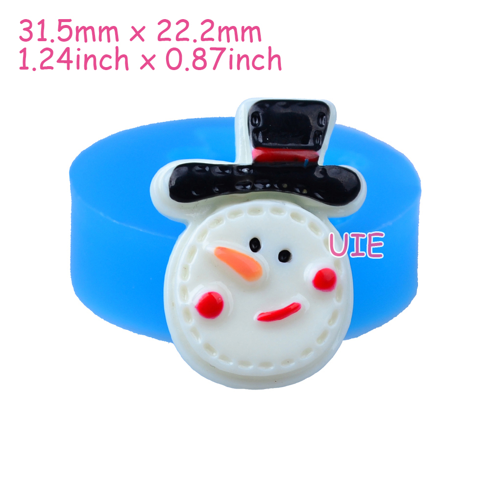 Snowman hats for crafts - Jyl113u 31 5mm Christmas Snowman With Hat Silicone Mold For Cupcake Topper Fondant Craft