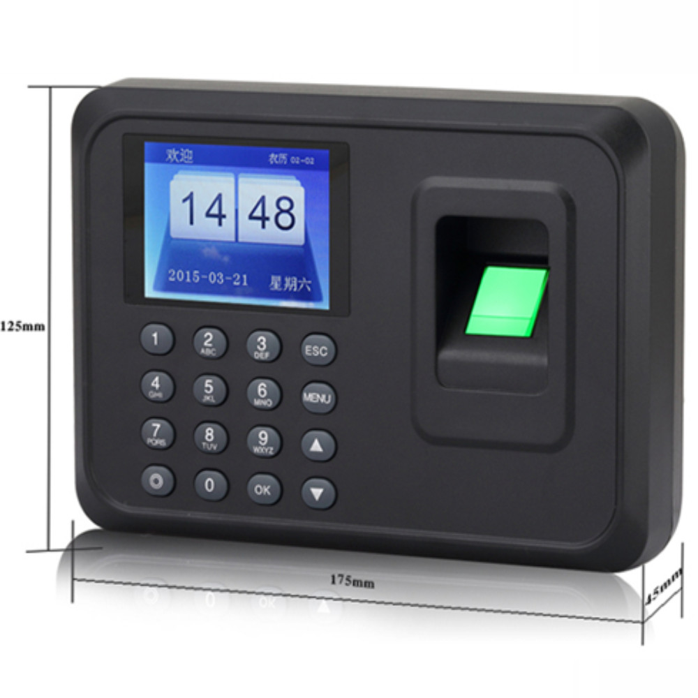 LCD 2.4 TFT USB Biometric Fingerprint Attendance Machine DC 5V/1A Time Recorder Employee Digital Electronic Recognition Machine lp116wh2 m116nwr1 ltn116at02 n116bge lb1 b116xw03 v 0 n116bge l41 n116bge lb1 ltn116at04 claa116wa03a b116xw01slim lcd