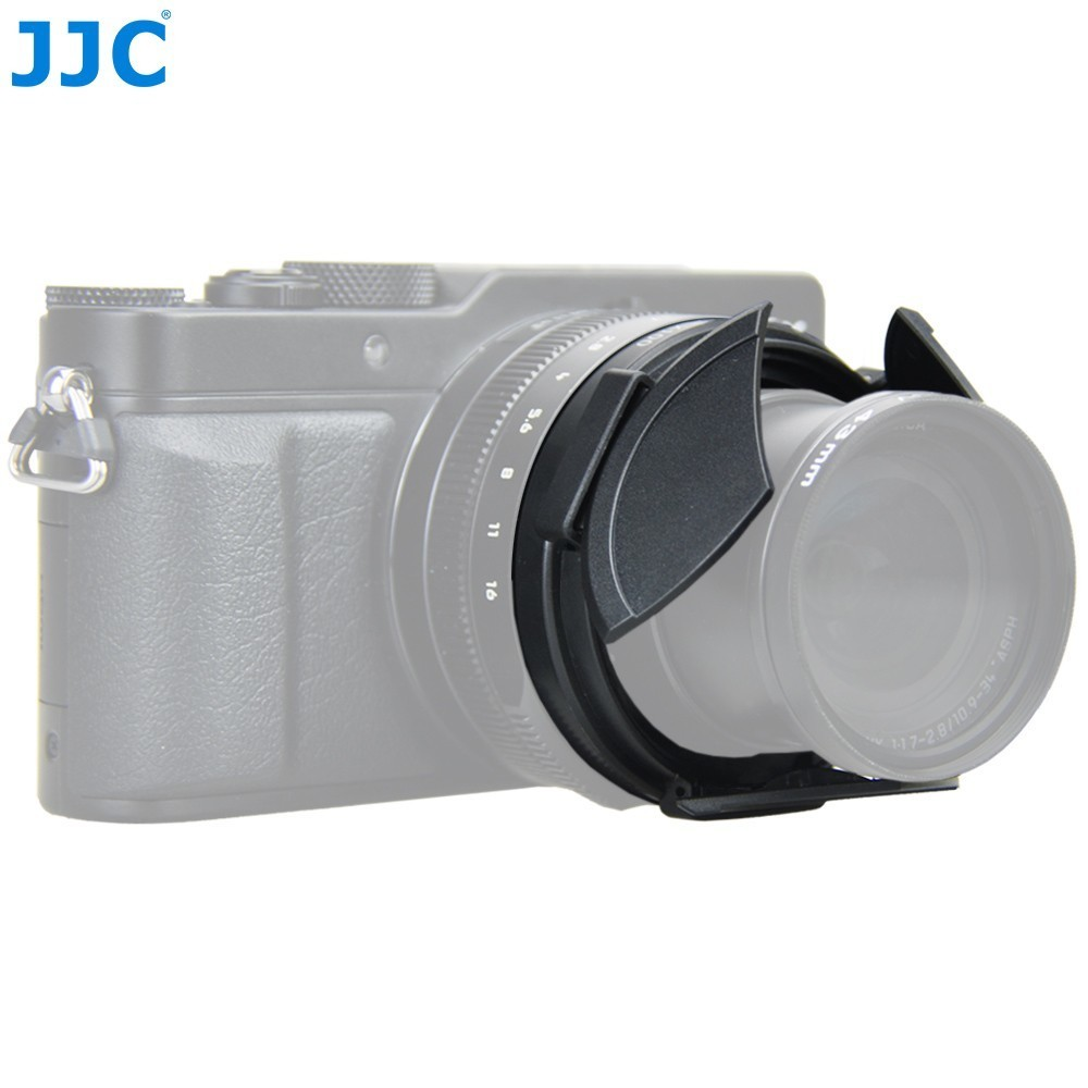 JJC Kamera Protector Schwarz Auto Objektiv Kappe für Panasonic LUMIX DMC-LX100 und LEICA D-LUX (Typ 109) ersetzt DMW-LFAC1