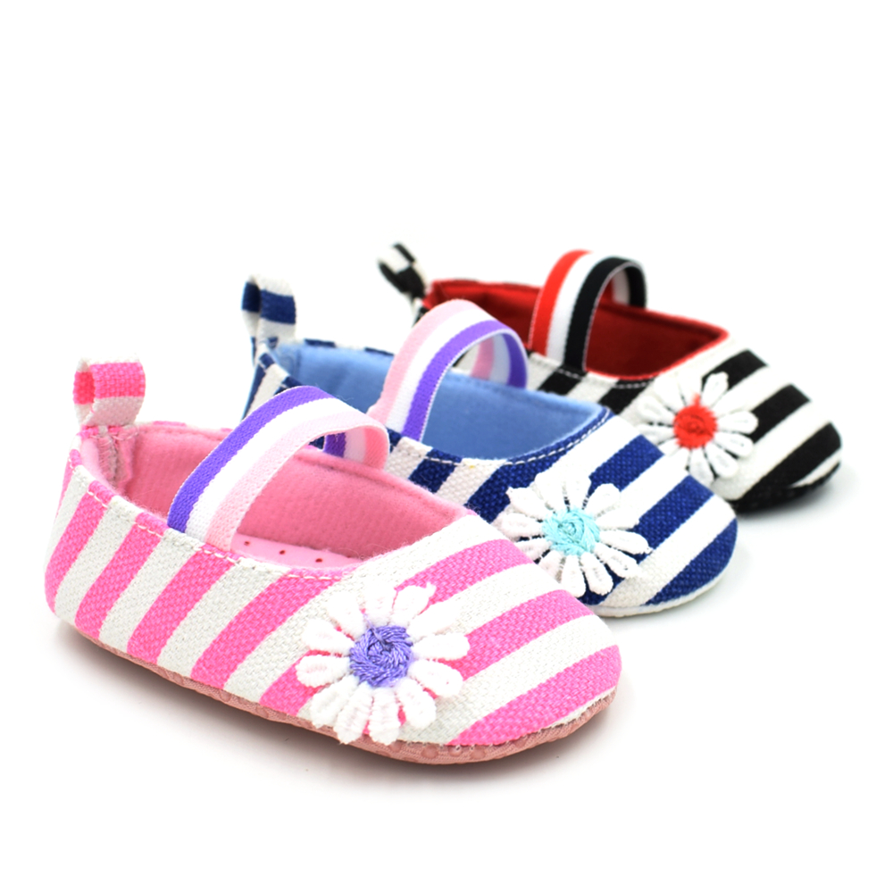 High Quality Baby Kids Girls Canvas Flower Princess Infant Soft Sole Baby First Walker Toddler Shoes
