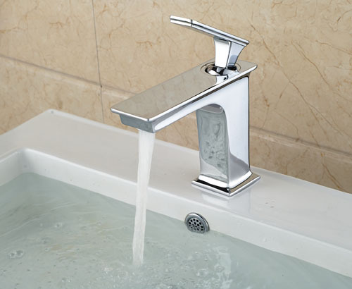 ФОТО Free Shipping Wholesale And Retail Chrome Finish Bathroom Faucet Bathroom Basin Mixer Tap with Hot and Cold Water