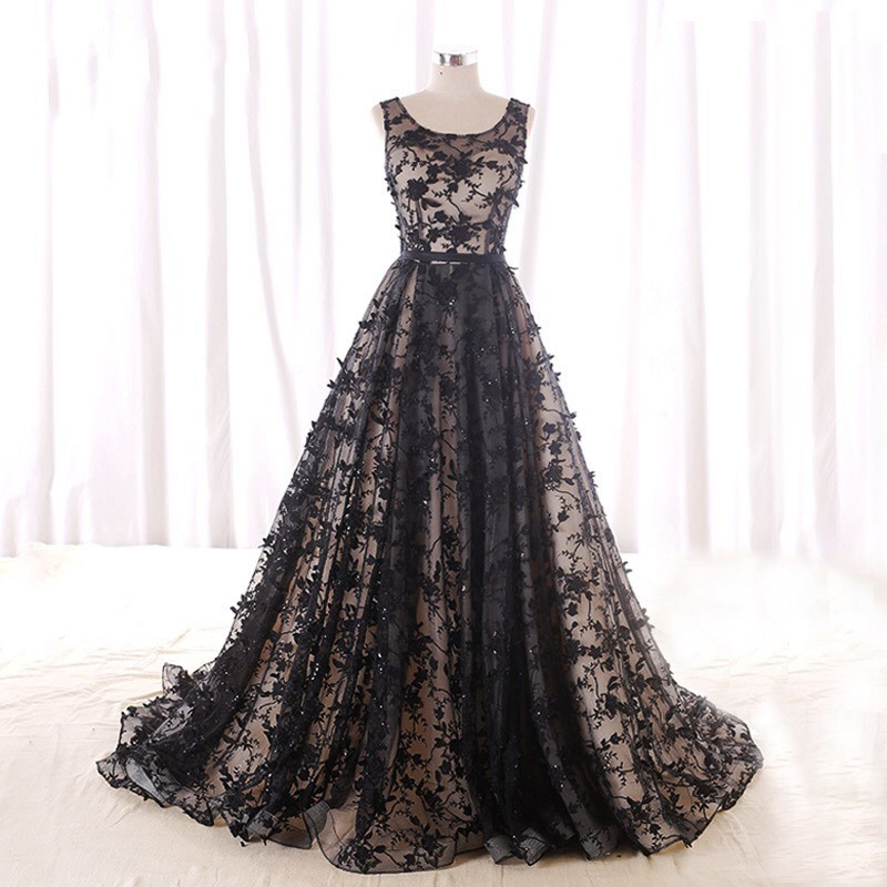 Elegant   Evening     Dresses   2018 Vestidos De Festa Customized   Evening     Dress   Tulle Appliques   Evening     Dresses   Long Robe De Soiree