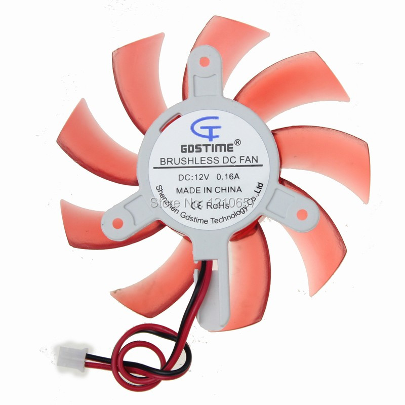2 Pieces lot 75mm 12V 2Pin PC Graphics VGA Video Card Heatsink Cooler Cooling Replacement Fan alseye vga cooler clearance aluminum heatsink graphics card fan dc 12v 2pin 6000rpm cooling fan for fx1000 fx5600