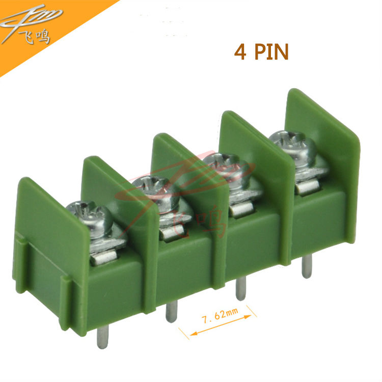 10 PCS Barrier KF7.62-2P Pitch 2P 3P 4P 300V 20A KF7.62-3P Green Terminal Block Solder Terminal Block DG KF7.62-4P 5 pcs 400v 20a 7 position screw barrier terminal block bar connector replacement