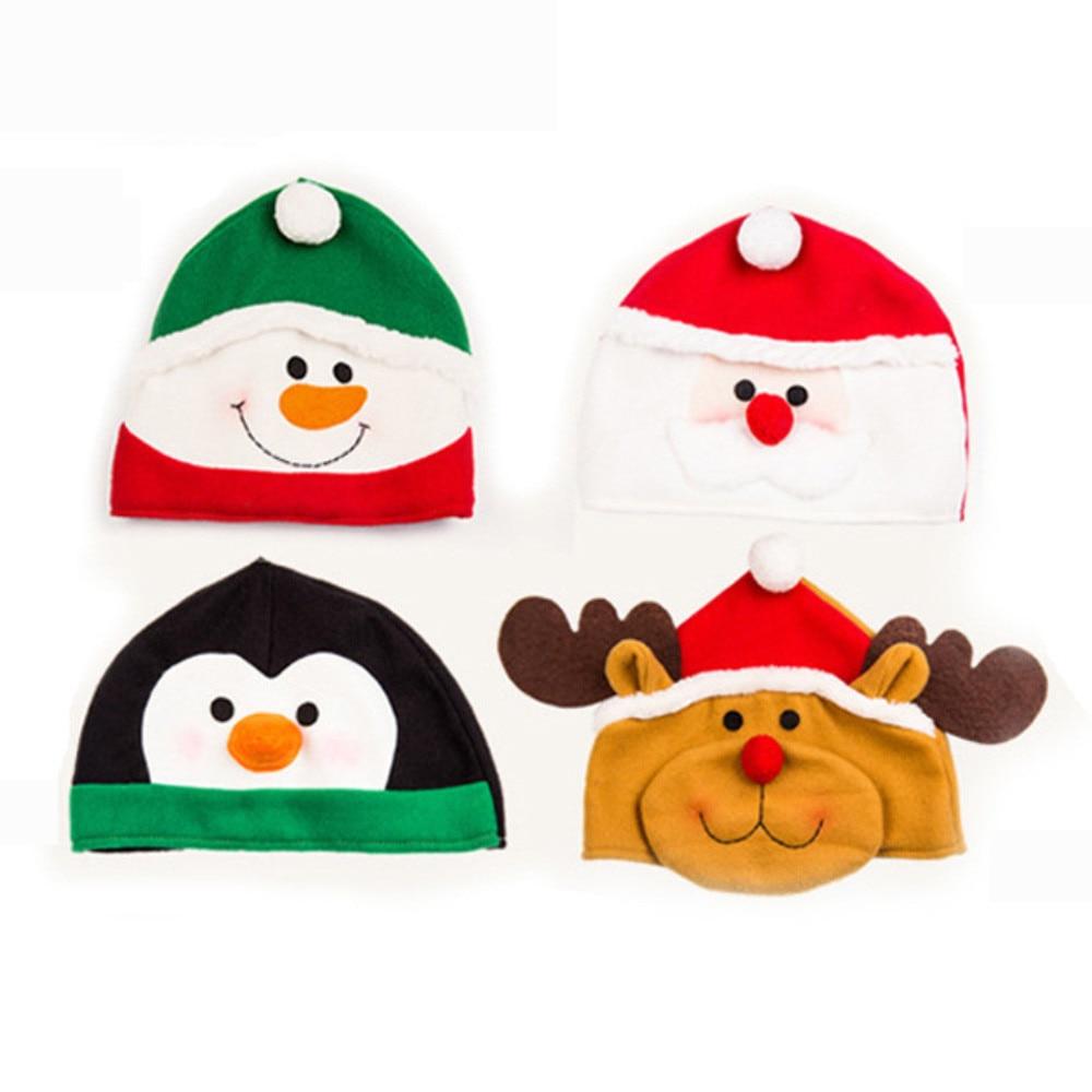 цена на Christmas Hat Caps Xmas Cotton Cap Christmas Gift Christmas Cap Christmas Decoration Snowman Santa Claus Costume New Year Gift