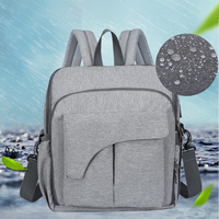 LJL Baby Bag Maternity Bag For Baby Large Bags For Diapers Backpack For Mom Nappy 2 In 1 Mummy Backpack(Gray)