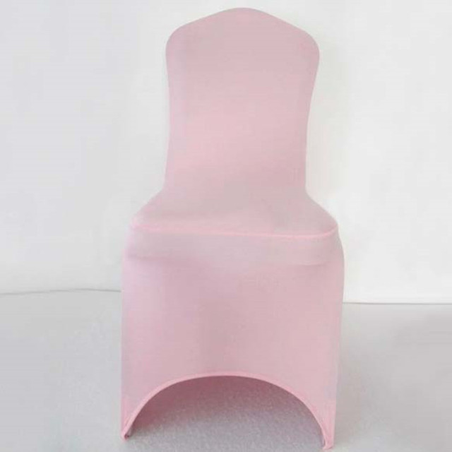 Light Pink Spandex Chair Covers Wholesale Suppliers 100pcs Extra Thick Elastic Lycra Wedding Stretch For Hotel Banquet Decoration